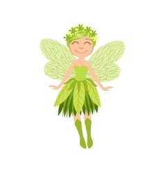 Cute Forest Fairy Girly Cartoon Character vector image vector image