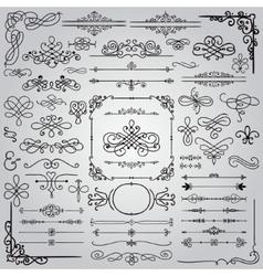 Hand Drawn Design Elements vector image vector image