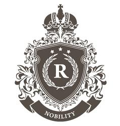 Imperial coat of arms - heraldic royal emblem vector image vector image