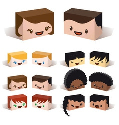 3D diversity avatars vector image vector image