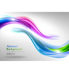 abstract white two curve blue green purple vector image vector image