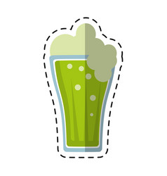 cartoon st patricks day green beer vector image