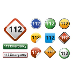 Emergency call 112 vector image vector image