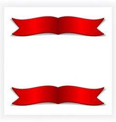Festive card with ribbons vector