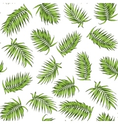 Loose seamless jungle forest greenery pattern vector image vector image