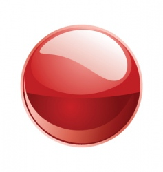 shiny sphere 02 red vector image