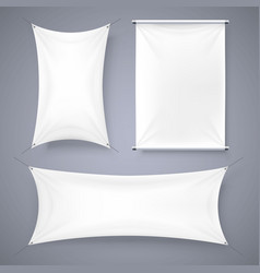 the cloth banner signboard collection vector image