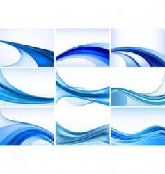 abstract background set vector image vector image