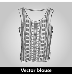 Beautiful top shirt summer blous vector image