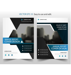 blue triangle abstract annual report brochure vector image vector image