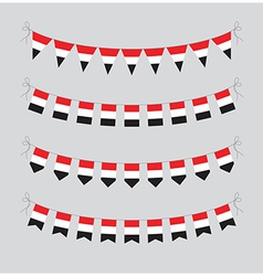 egyptian bunting vector image vector image