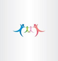 family icon symbol logo people element vector image