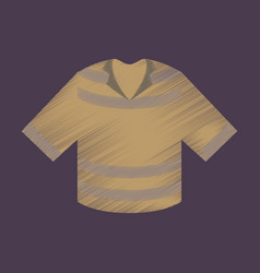 flat shading style icon clothes t-shirt vector image vector image