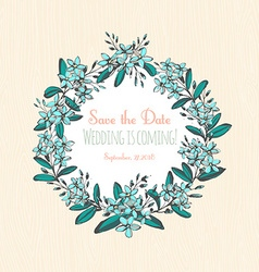 Forget-me-not blue flowers hand drawn bouquets vector image