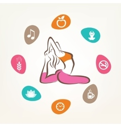 healthcare and fitness infographics harmonic life vector image