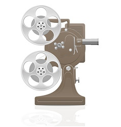 old retro movie film projector 01 vector image vector image