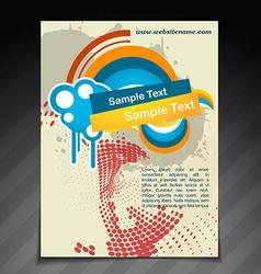 Abstract brochure design vector