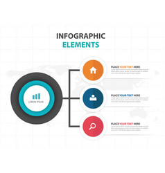 abstract colorful circle business infographics vector image