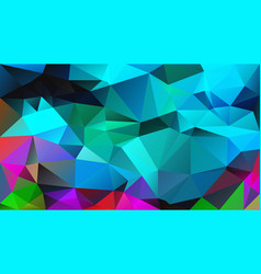 Abstract irregular polygon background cyan blue vector