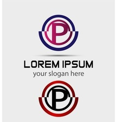 Abstract letter p logo vector