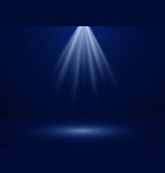 abstract of spotlight presentation on dark blue vector image