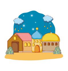 Adobe house cartoon vector