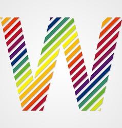Alphabet Letter W vector