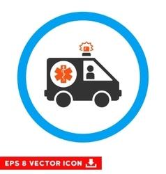 Ambulance Car Eps Rounded Icon vector image