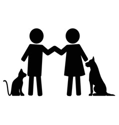 animals help man love pets vector image