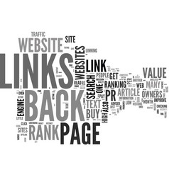 Are you hung up on page rank and back links text vector