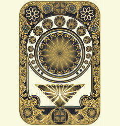 Art nouveau inspired floral frame vector