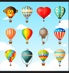 Balloon cartoon air-balloon or aerostat vector