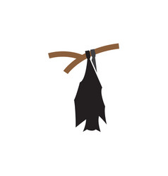 bat hanging icon design template isolated vector image