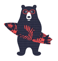 Bear surfer 003 vector