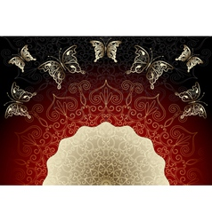 black-red elegance frame vector image