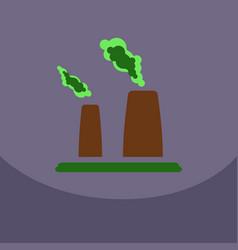black smoke floating from multiple smokestack vector image