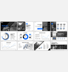 blue elements for infographics and presentation vector image