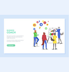 Business coach hipster animal teaching students vector