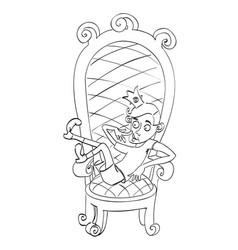 cartoon image of idiot prince vector image