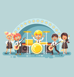 Children music band musical vector