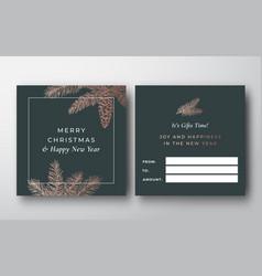 Christmas abstract greeting gift card vector