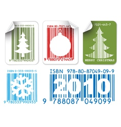christmas bar codes vector image