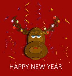 christmas reindeer fun vector image