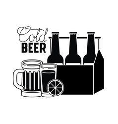 cold beer label isolated icon vector image