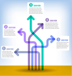 colorful 5 part infographic vector image