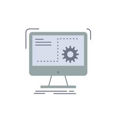 Command computer function process progress flat vector