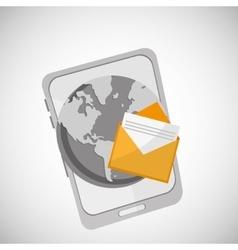Communication design envelope icon Flat vector