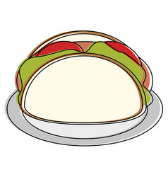 delicious sandwich food vector image