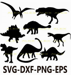 Dinosaurs svg dinosaur silhouette png eps svg vector