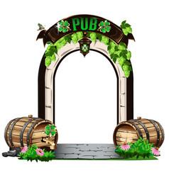 Door to irish pub vector